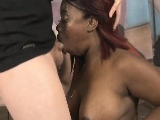 black ghetto whore gucci xxx rough blowjob and titty fuck