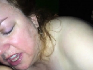 skilled mature bbw giving a hot blowjob