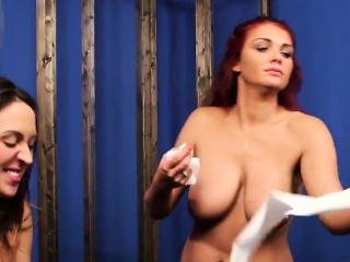 sexy babe gets cum shot on her face swallowing all the sperm