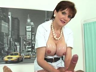 unfaithful british mature lady sonia exposes her massive tit