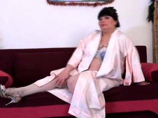 A Great Mature Lady Arina Playing With Her Toys