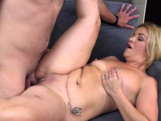 Little Busty Blonde Milf And Her Young Lover