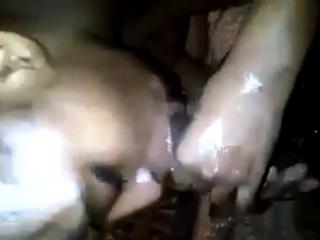 busty ebony giving sloppy head