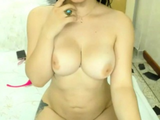 sexy shemale shows her big tits and her cock