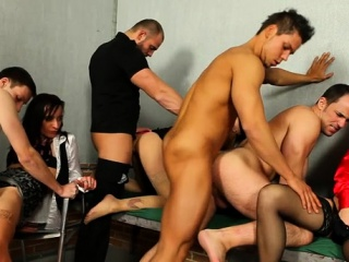 cutie pie gets anal fucked by 2 bi sexual males