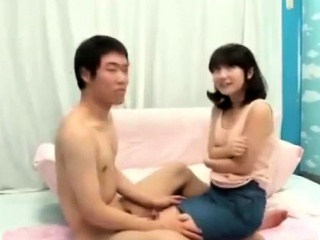perky and hairy teen japanese humping cock and cumming hard