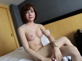 Bitchy tgirl with a subtle body gets her dick caressed