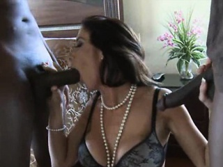 hard double black dick for horny milf