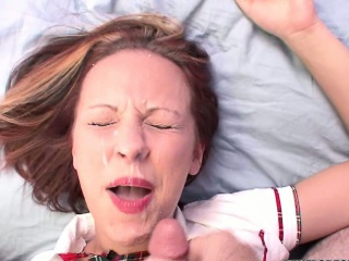 penelope sky fucks and gets a big facial
