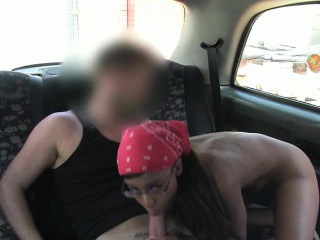 tiny black girl pussy fucked in the cab